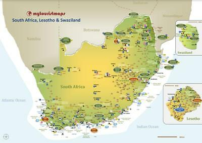 Interactive travel & tourism map of SOUTH AFRICA, LESOTHO & SWAZILAND