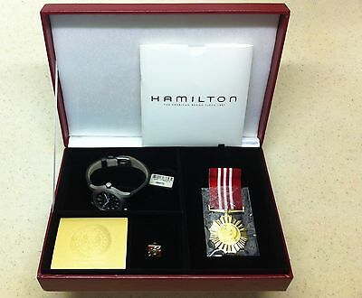 Limited Edition Singapore Army Military Hamilton Khaki Watch Box Set New In Box