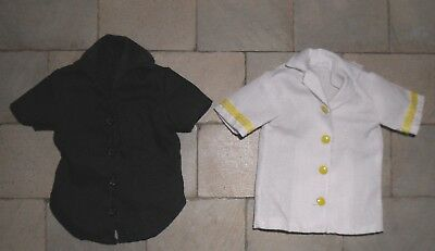 Two 1/12Th Scale Dolls' Men's Shirts