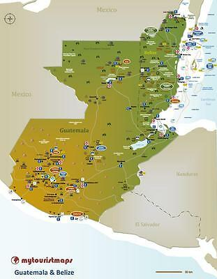 Interactive travel & tourism map of GUATEMALA & BELIZE