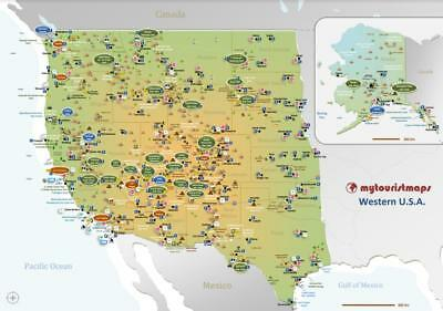 Interactive travel & tourism map of WESTERN U.S.A.