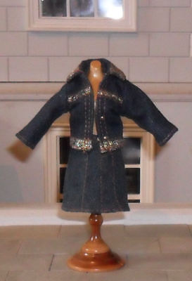 1/12Th Scale Dolls' Denim Jacket And Skirt