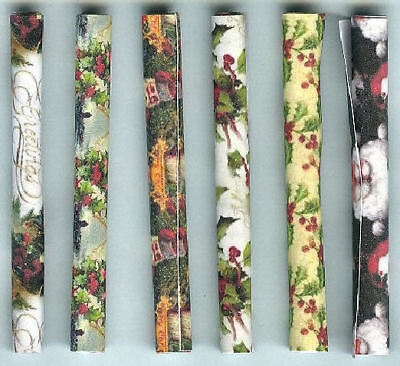 Six Rolls Of Hand-Made Dolls' House 1/12Th Scale Christmas Wrapping Paper