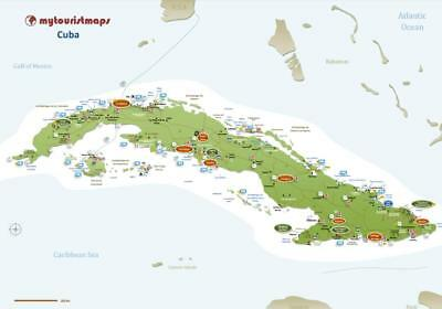 Interactive travel & tourism map of CUBA