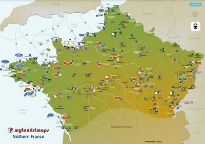 Interactive travel & tourism map of NORTHERN FRANCE