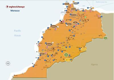 Interactive travel & tourism map of MOROCO