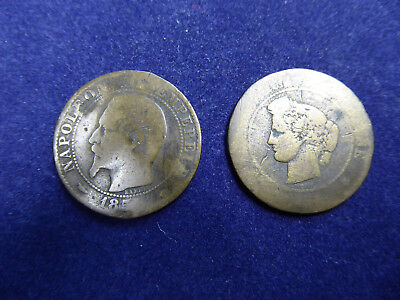 Pair of Antique French Coins