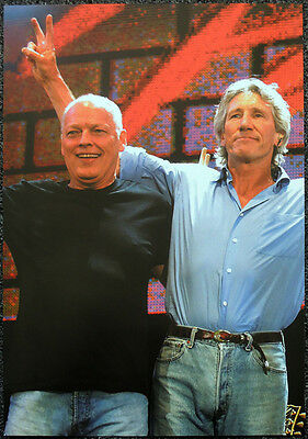 Pink Floyd Poster Page 2005 Live 8 Hyde Park David Gilmour & Roger Waters .r95