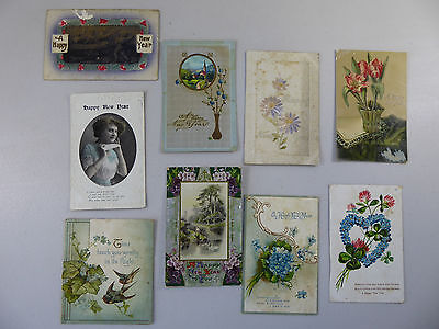lot of Antique Vintage Happy New Year Cards and Postcards