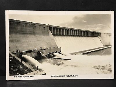 Vintage Real Photo Postcard HUME RESERVOIR, ALBURY, NSW the Rose Series P6170