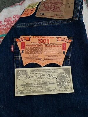 levis 501 size 28 /32 leg brand new deadstock with tags