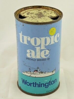 Empty SS Flat Top beer can from England