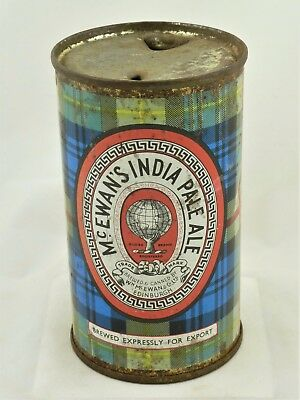 Empty SS Flat Top beer can from Scotland