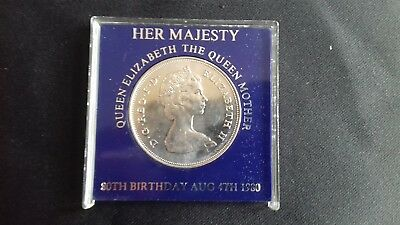 Elizabeth 11, Queen Mothers 80th birthaday, commemorative coin.