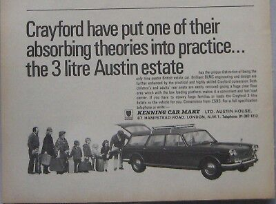 1970 Crayford Austin 3-litre Estate Original advert