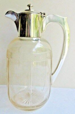 Silver Plated & Cut Glass Claret or Water Jug WM Co EPNS