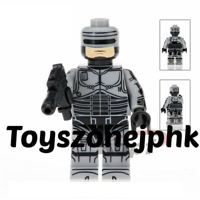 Custom Robocop Movie Alex J Murphy Hero Minifig fit Lego Minifigure Mini Figure