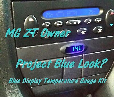 E-Zee Digital K-Bus Temperature Gauge in Blue for MG ZT