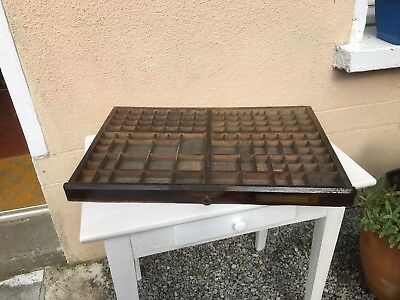 Vintage French Printers Tray Large Letterpress