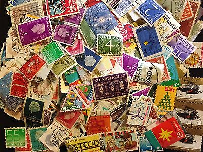 LOT OF 400 gram OLD NETHERLANDS STAMPS OFF PAPER IN VERY NICE CONDITION