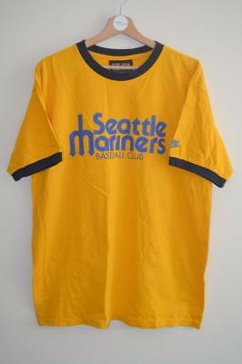 Seattle Mariners Nike Cooperstown Yellow Baseball T-Shirt Top Large Mens