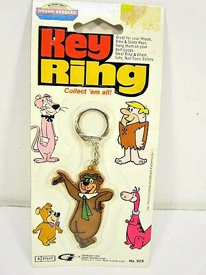 Vintage 1979 Yogi Bear Hanna-Barbera Key Ring Unopened On Card Gordy Toy