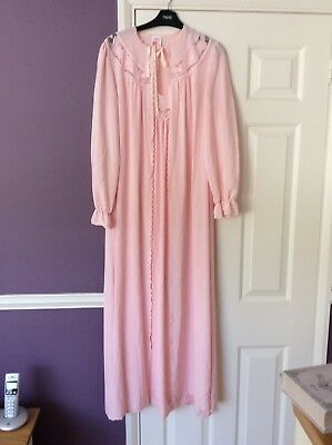 Vintage St Michael Marks & Spencer Pink Night Dress & Drwessing Gown Size 12