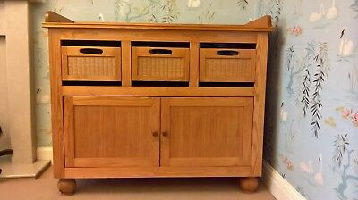 Solid wood baby changing unit/table with draws