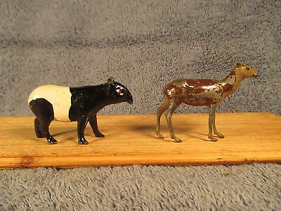 Britains Zoo Malay Tapir and a Deer (Both Pieces). #949