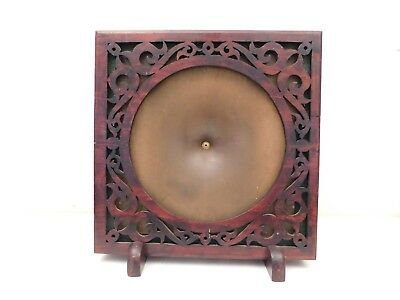 VINTAGE OLD 1920s EXCELLENT TEMPLE ANTIQUE RADIO EXPOSED WOOD CONE SPEAKER
