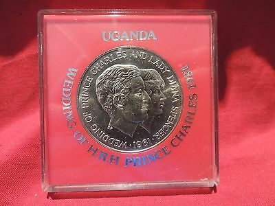 N0102mam Uganda Prince Charles & Lady Diana Wedding Medallion
