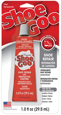 Shoe Goo Shoe Glue Or Nozzle Mend Repair Trainer Boot Heels Soles Leather