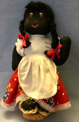 Vintage Little Black Cloth Doll * Hand Made Doll * Free Shipping
