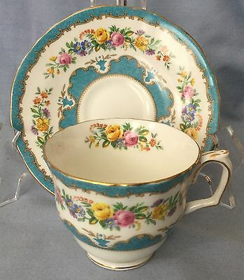 Vintage Staffordshire GORGEOUS TEA CUP & SAUCER * Old Fashioned