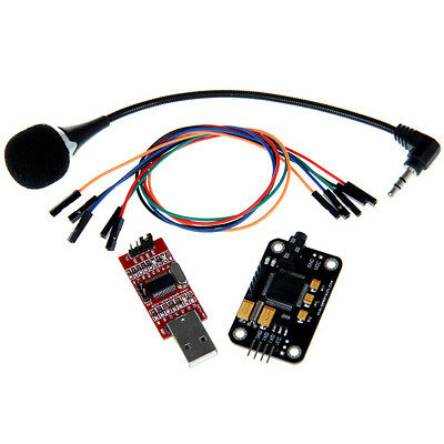 Black + Red Voice Recognition Microphone + USB to RS232 TTL Module Kit