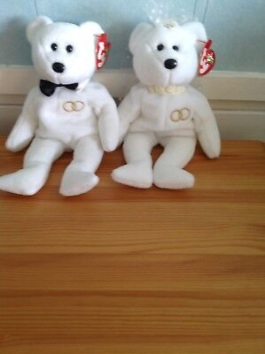 Ty Beanie Babies Mr And Mrs Wedding With Tags
