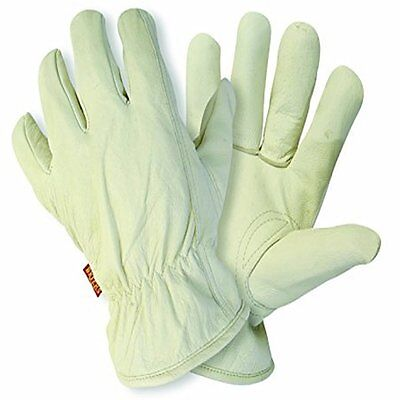 BRIERS LINED HIDE LEATHER GARDENING GLOVES (medium)