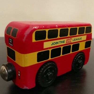 Rare Good Cond Thomas The Tank Engine Wooden Railway Bulgy Bus