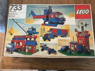 Vintage 1980 Lego Basic Universal Set 733 100% Complete With Box And Instruction