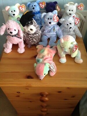 10 Rare Retired Ty Beanie Babies With Tags Including  Princess
