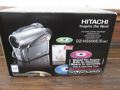 Hitachi dvd camcorder. DZ-HS500E, with 30GB hard drive, boxed