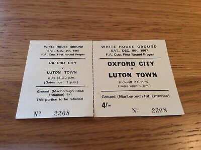 Oxford City V Luton Town - 1967 FA Cup 1st round.
