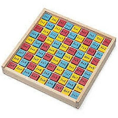 Wooden Times Tables Board Educational Maths Learning