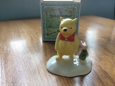 "Royal Doulton Winne the Pooh ""The more it snows tiddly pom"""