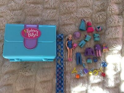 Polly Pocket Doll With House Case And Accessories