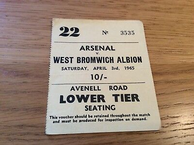 Arsenal V West Bromwich Albion - 1965