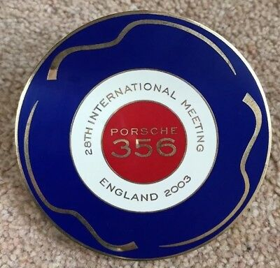 Porsche 356 International UK/England 2003 PCGB 28th International Hood Badge