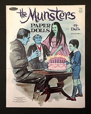 """The Munsters"" 1966 Whitman Uncut Paper Dolls Vintage"