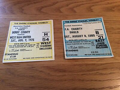 West Ham / Derby / Liverpool -Charity Shield Tickets