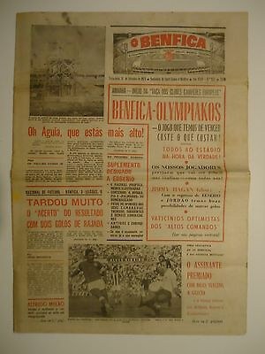 Newspaper BENFICA v OLYMPIACOS (OLYMPIAKOS) - European Cup 1973-1974